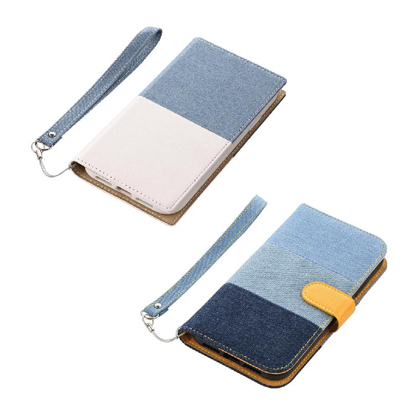 iPhone XR デニムフラップケース「JIMS」