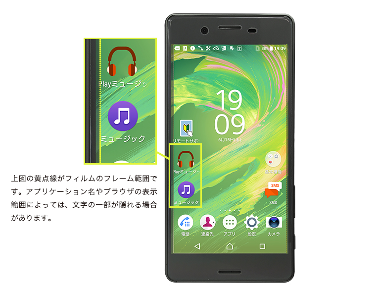 XperiaXPerformance全画面保護ガラスについて