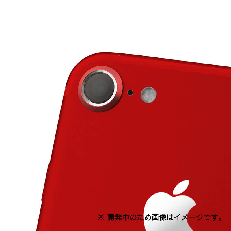 iPhone7 カメラレンズプロテクター「Rich Lens」レッド