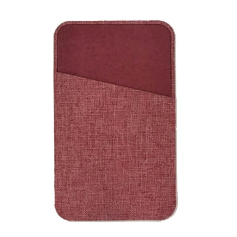 【+U】Fabricカードポケット/レッド