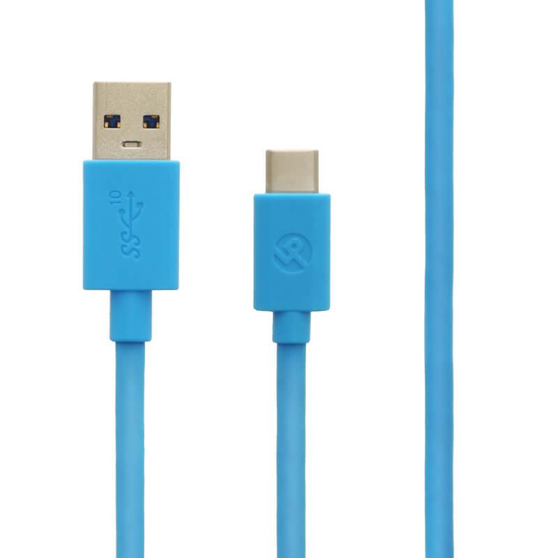 スマートフォン(汎用) USB A to Type-C(USB 3.1 Gen2) ケーブル 1.0m ブルー