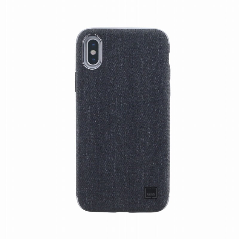 iPhone X/シェル型ケース/メタルソフトPU/Glacier Luxe Kanvas/Tux(Black)