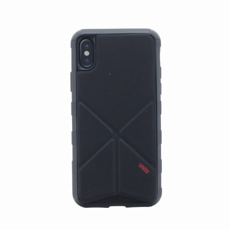 iPhone X/シェル型ケース/タフPU/Transforma Rigor/Ebony(Black)