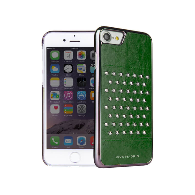 iPhone 7/シェル型ケース/スタッズ/Tacho Collection/Teal(Green)